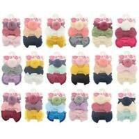 3Pcs/Set Baby Girls Kids Toddler Bow Knot Hair Band Headband Turban Headwraps