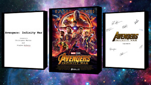 Avengers Infinity War Script/Screenplay W/Movie Poster & Autographs Signed Print