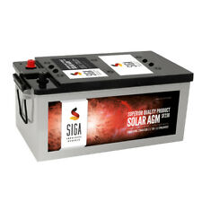 SIGA Solar AGM Batterie 230AH 12V Batterie Versorgungs Wohnmobil Boot GEL