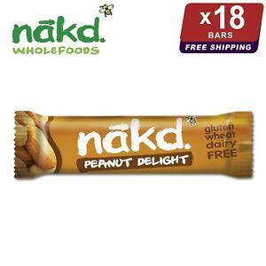 18 x Nakd Peanut Delight Bars 35g