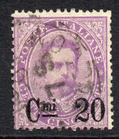 Italy 20c on 50 Cent Stamp c1890-91 Used (651)