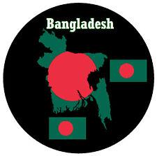 BANGLADESH - MAP / FLAG - ROUND SOUVENIR FRIDGE MAGNET - BRAND NEW - GIFT