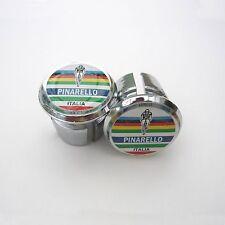 Style vintage Pinarello World champion chrome racing bar bouchons, bouchons, Repro