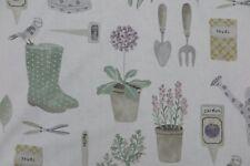 "Sanderson Curtain Fabric ""the Gardener"" 3 Metres Fennel Potting Room Prints"