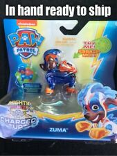 Paw Patrol Mighty Pups Charged Up Zuma Lights Up VHTF Nickelodeon New