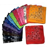 Lot of 12 Bandanas Face Covering Mask Paisley Print 12 Color 100% Cotton Scarf