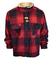 Mens Sweater Sweatshirt Sherpa Jacket Half Zip Guide Gear Plaid NEW REG 39.00