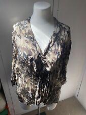EAST Leopard Print Crinkle Blouse Size 18
