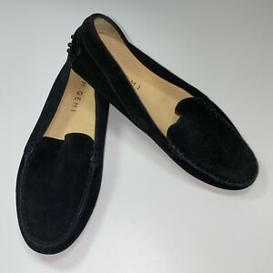 M. Gemi The Felize Black Suede Slip On Driving Loafers Women Size 39 / 8.5 Italy