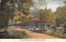 Owatonna Minnesota~Mineral Springs Park~Red Roof Gazebo~1913 Postcard