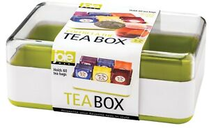 Joie Tea Box for Storing and Organizing up to 60 Tea Bag Packets Colors May Vary