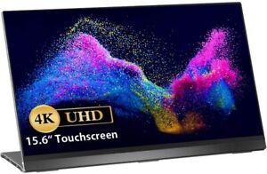 UPERFECT 4K Tragbarer Monitor 15,6 Zoll Touch USB-C UHD 3840x2160 Rahmenlos