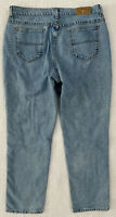 "Vintage Lee Rider Blue High Rise High Waist Mom Jeans Womens Sz 18 36"" Waist USA"