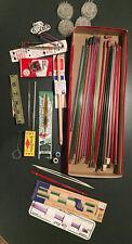 Vintage Misc Knitting/Crocheting Equipment-11 Needles Sizes,Mitten,Crochet Hooks