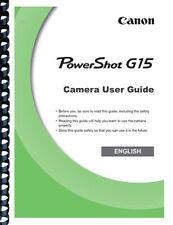 Canon Powershot G15 Camera User Guide Owner's Manual