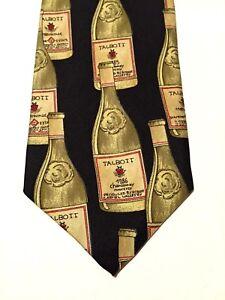 Robert Talbott Chardonnay Bottles Exclusive Hand Sewn Hand Printed Men's Necktie