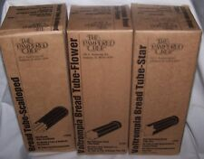 Pampered Chef VALTROMPIA Bread Tubes LOT set of 3 FLOWER STAR SCALLOPED Shape