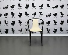 Refurbished Vitra Bellevill Meeting Chair - Cream Plastic Seat - Black Frame