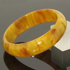 Vintage Bakelite Bracelet Bangle Butterscotch Yolk marble rare color