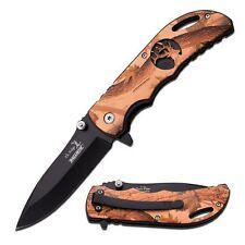 "Elk Ridge ER-A008BC Spring Assist 4.5"" Folding Knife w/Outdoor Camo Handle"