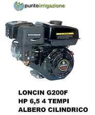 Motore scoppio benzina LONCIN 4 tempi HP 6,5 albero cilindrico cilindrata 196cc