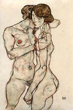 Egon Schiele Reproductions: Girlfriends - Fine Art Print