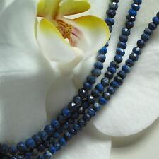 blauer facettierter  lapislazuli strang, ca. 35cm, 3-3,5mm durchmesser