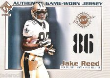 Jake Reed 2002 Private Stock Game Used Jersey Numbers Variant Master Proof 1/1