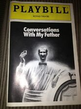 Playbill Conversations With My Father : Judd Hirsch David Margulies : Royale 92