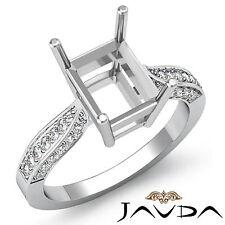Solitaire Style Diamond Engagement Ring Platinum 950 Emerald Semi Mount 0.4Ct