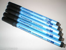 5 x STAEDTLER Folienstift Lumocolor correctable korrigierbar 305 M-9 schwarz NEU