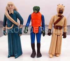 "Vintage Star Wars Tusken Raider Bib Fortuna & Walrus Man Ponda Baba 3.75"" GMFGI"
