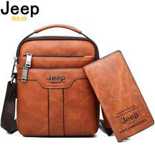 Men Messenger Bag + Organizer Crossbody Business Casual Set Handbag JEEP BULUO