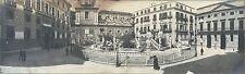 Palerme Palermo Italia Italie 2 Photos Panoramiques ca 1900 Vintage argentique