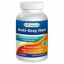 Best Naturals Anti Gray Hair 60 Caps restore natural color unisex