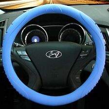 MASADA Premium Silicone Car Steering Wheel Cover (Blue) - One size fits all Gift