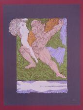 Ernst Fuchs Samson und Delila Farbsiebdruck um 1970 handsigniert u. nummeriert