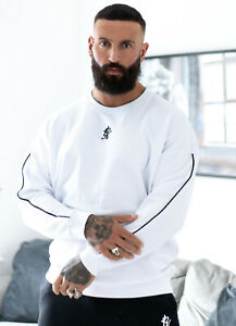 Gym King Mens Oversized Designer Pullover Crew Neck Sweatshirt Sweater Jumper