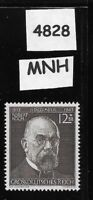 MNH stamp / Robert Koch Pandemic Scientist / 1943 / WWII Third Reich era Germany