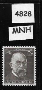 MNH stamp / Robert Koch Pandemic Scientist / 1943 / WWII Third Reich era Germany