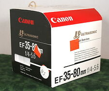 Canon EF35-80, f/4-5.6 Lens Box, Empty NO LENS Included