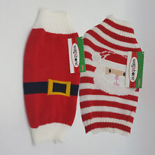 Christmas Dog Santa Paws Sweater Wag&Bone Solid Striped Free Priority Shipping