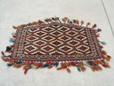 LG Antique White Ground West Turkestan Yomud Asmalyk Wedding Camel Trapping Rug