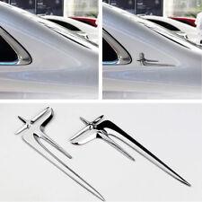 Car Decorat Emblem Badge Angel wing Star 3D Silver C column Metal Logo sticker(Fits: Kia)