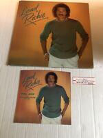 Lionel Richie Self Title LP Vinyl Gatefold 1982 W/ 45 Picture Sleeve/Juke Strip