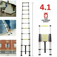 4.1M Extension Extendable Aluminum Telescopic Ladders Heavy Duty 13 Steps Ladder