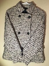 Women's French Connection size 2 Gray Boucle Tweed Pea Coat Jacket NEW NWT