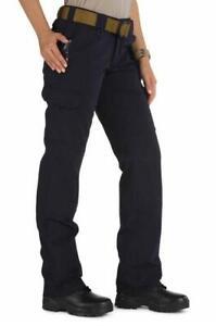 Women's 5.11 Tactical Pants cotton canvas cargo law enforcement 18 Long black