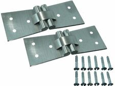 Lot of 400 Satin Chrome Counterflap Back Flap Hinge with Screws 102X32X38Mm