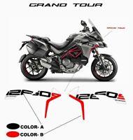Adesivi Grand Tour Design per fiancate - Ducati Multistrada 1260 S